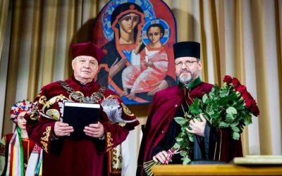 «Сьогодні передусім Церква-мучениця отримує таке високе звання, а не я», — Глава УГКЦ під час вручення диплому doctor honoris causa