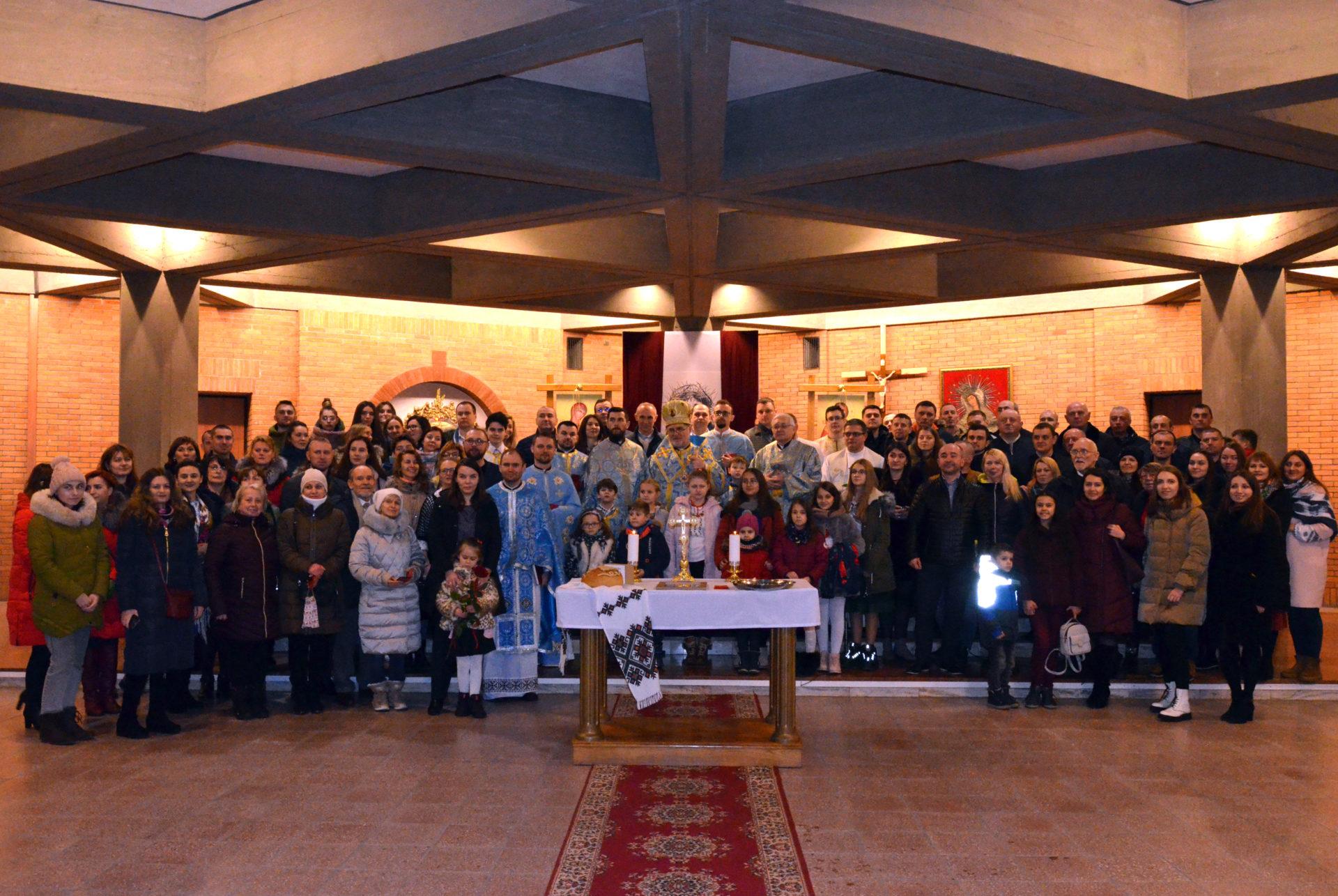 Владика Володимир відвідав парафію Стрітення Господнього в Лодзі у день її храмового празника.
