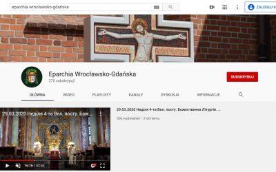 Канал Вроцлавсько-Ґданської єпархії на YouTube – прохання про підписку